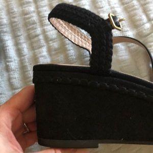 Kensie Shoes - Kensie Woman's 8.5 Black Suede Platform Timothy
